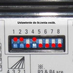Czujnik kombinowany 3H-IR14Hotron ustawienie do liczenia osób.